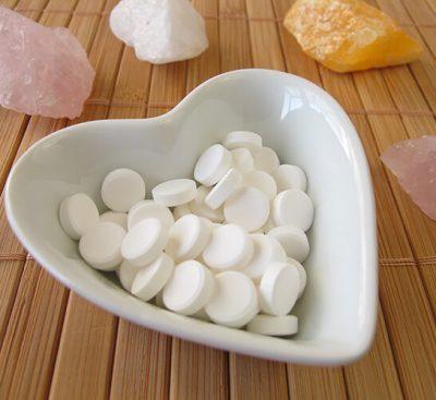 Шуслерови соли в купичка, във формата на сърце