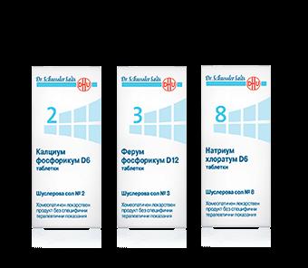 Комбинация от Шуслерови соли при атопичен дерматит