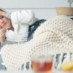 Жена с висока температура