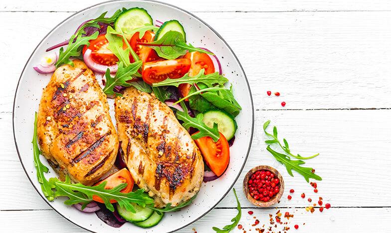 Вечеря със зеленчуци и пиле