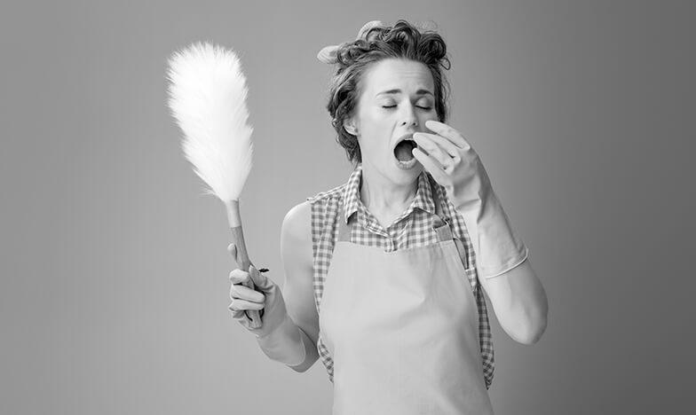 Жена с алергия към прах