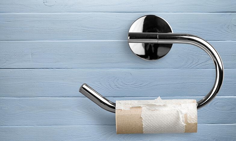 изхабено руло тоалетна хартия